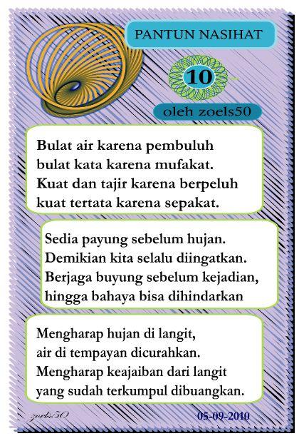 pantun nasihat 10