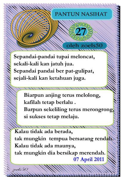 Pantun Nasehat (27) | Mekarina Studio